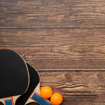 Composizione moderna di ping-pong