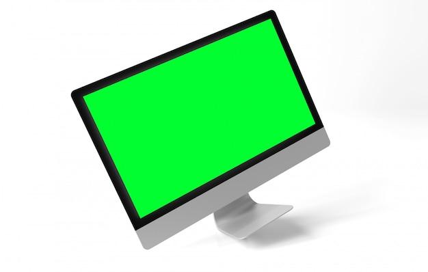 Computer isolato su un con ombra
