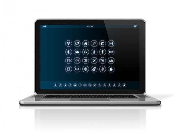 Computer portatile - interfaccia delle icone delle app