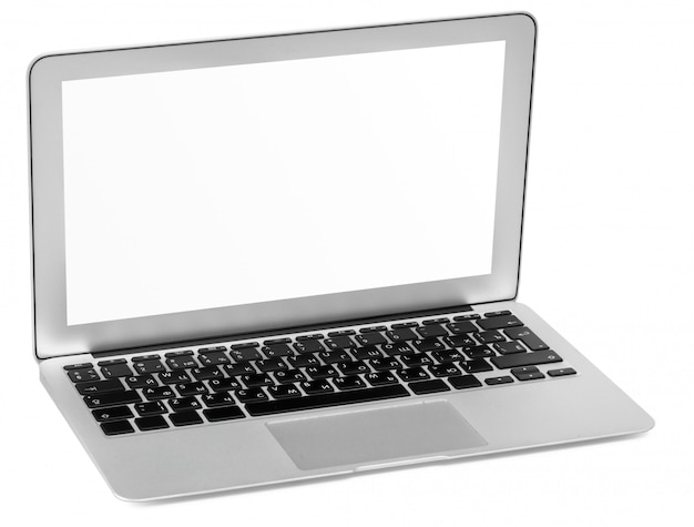 Computer portatile isolato su bianco