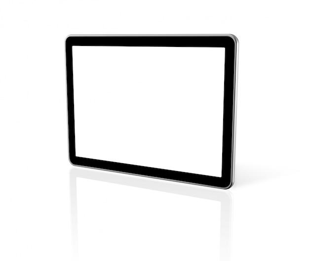 Computer tridimensionale, tablet pc digitale, schermo tv