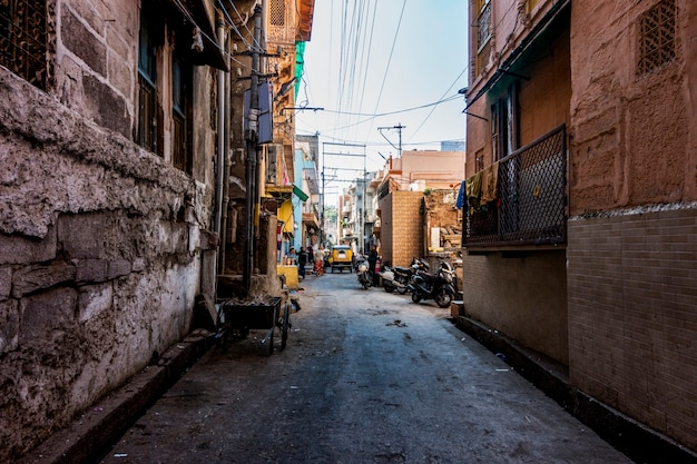 Comunità di stile di vita del rajasthan in india