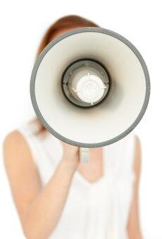 Concentrarsi su un megafono