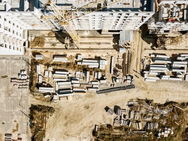 Concetto aereo f di architettura di sviluppo del fabbricato industriale