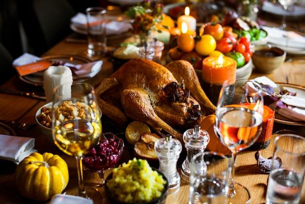 Concetto arrostito di celebrazione di tradizione di ringraziamento della turchia