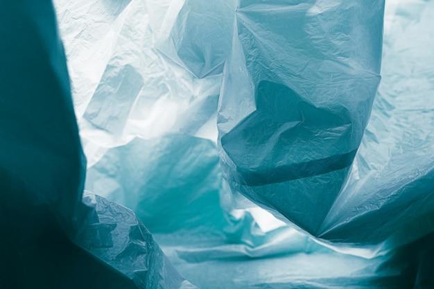 Concetto astratto del sacchetto di plastica del primo piano