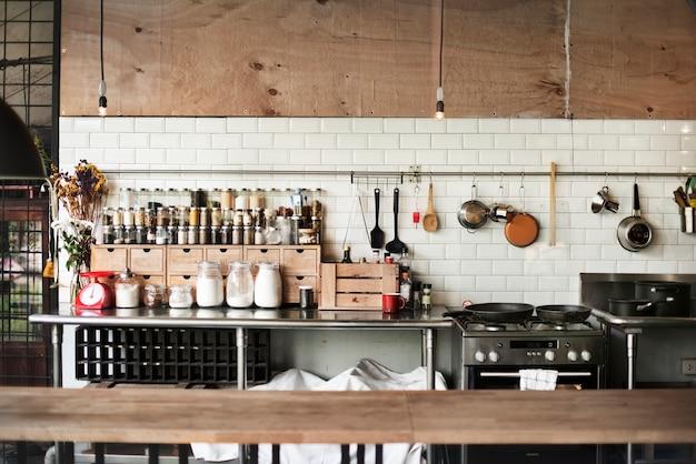 Concetto contemporaneo delle spezie di cottura degli apparecchi da cucina