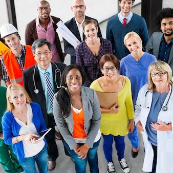 Concetto corporativo del gruppo di lavoro di occupazione di carriera della gente