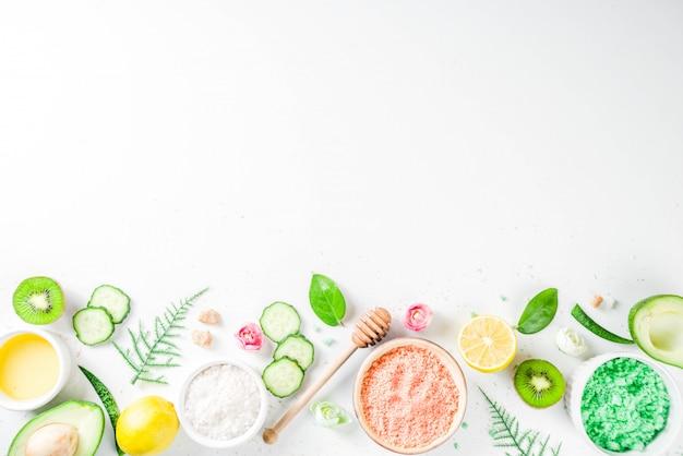 Concetto cosmetico naturale e biologico