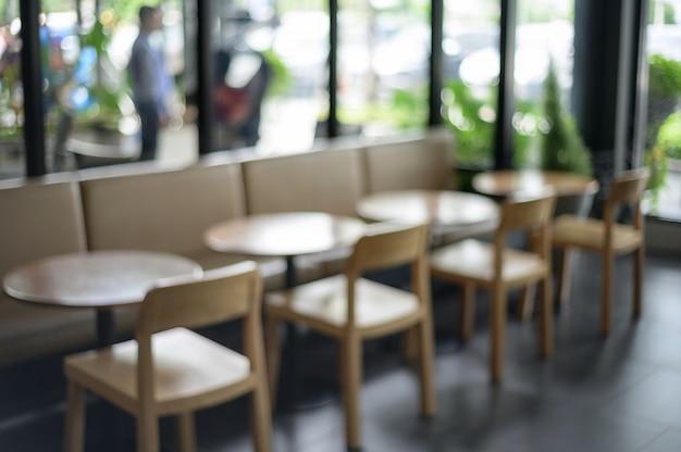 Concetto defocused confuso di rilassamento del ristorante del caffè del contatore della barra del negozio
