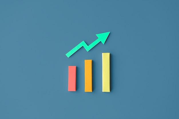 Concetto del grafico di fatti di informazioni di affari di analisi dei dati