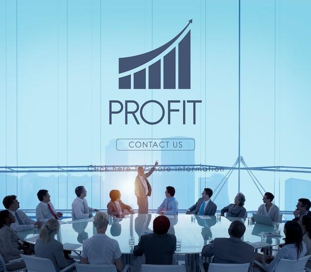 Concetto del grafico di rapporto di successo di affari