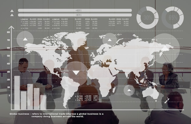Concetto del mercato azionario di finanza di crescita del grafico commerciale globale