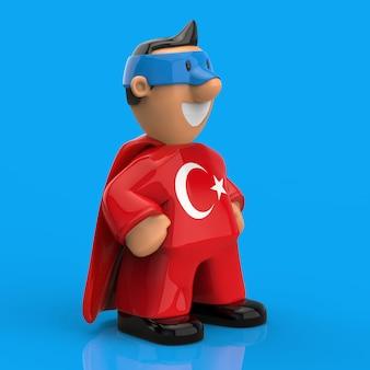 Concetto del supereroe - illustrazione 3d
