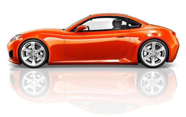 Concetto dell'illustrazione del trasporto del veicolo dell'automobile sportiva 3d