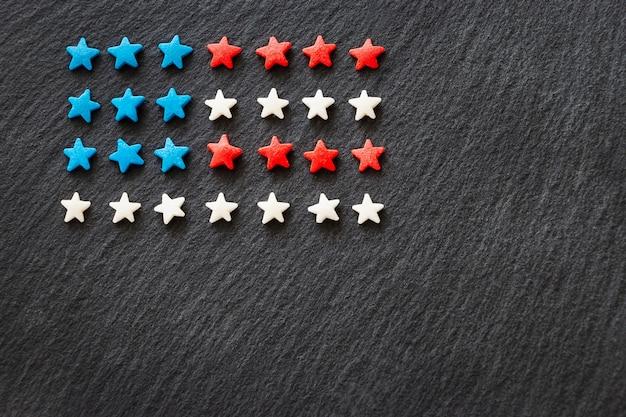 Concetto della priorità bassa della bandiera americana 4 luglio independence day.