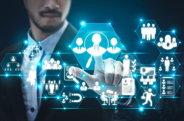 Concetto della rete delle risorse umane e della gente
