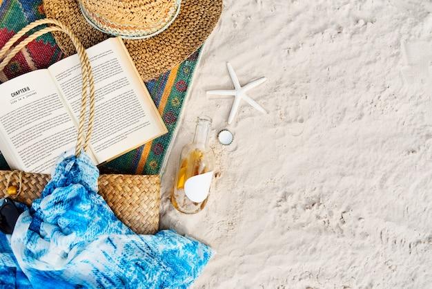 Concetto della spiaggia di wanderlust di vacanza di viaggio di viaggio di estate