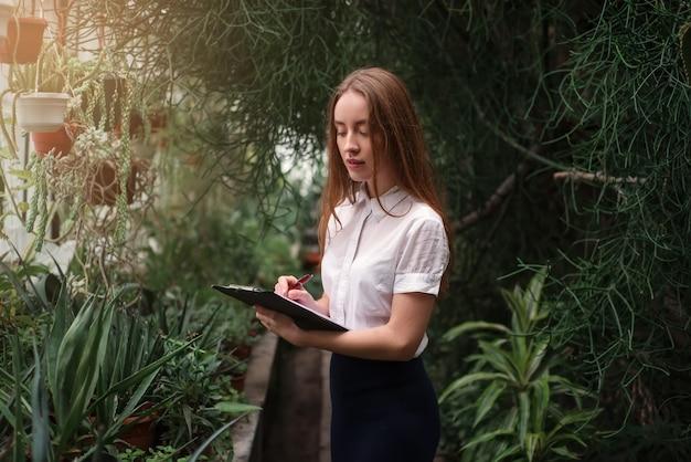 Concetto di affari di piante e fiori