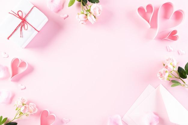 Concetto di amore e san valentino.