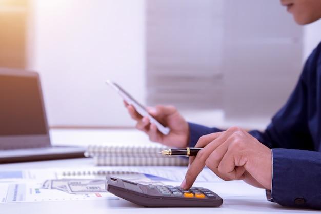 Concetto di attività bancarie di contabilità di finanziamento di affari.