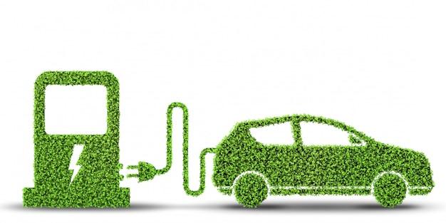 Concetto di auto elettrica
