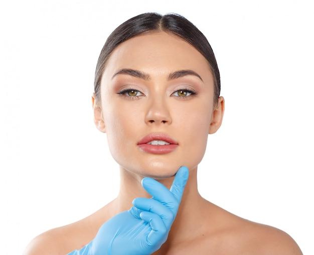 Concetto di bellezza di chirurgia plastica cosmetologia
