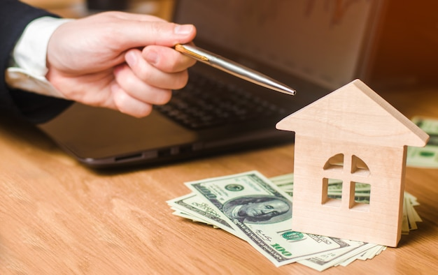 Concetto di beni immobili vendita o affitto di abitazioni, affitto di appartamenti. agente immobiliare