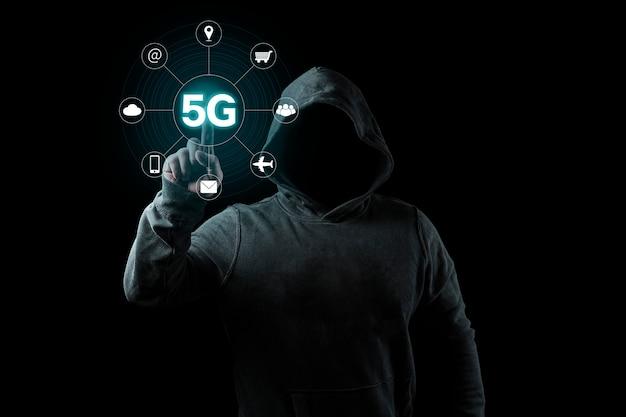 Concetto di business wireless di internet network mobile 5g