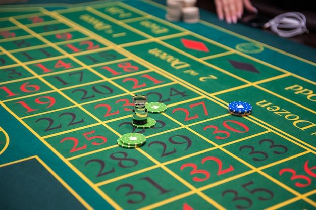 Concetto di casinò, gioco d'azzardo e intrattenimento