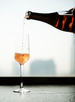 Concetto di celebrazione champagne