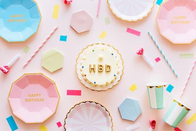 Concetto di celebrazione festa di compleanno