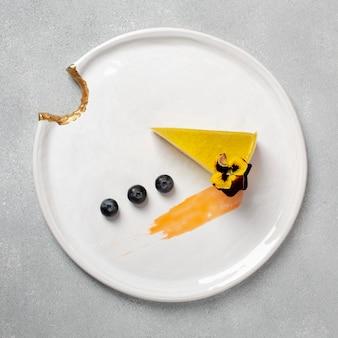 Concetto di cibo delizioso layof piatto