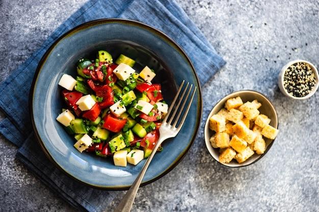 Concetto di cibo sano con verdure biologiche