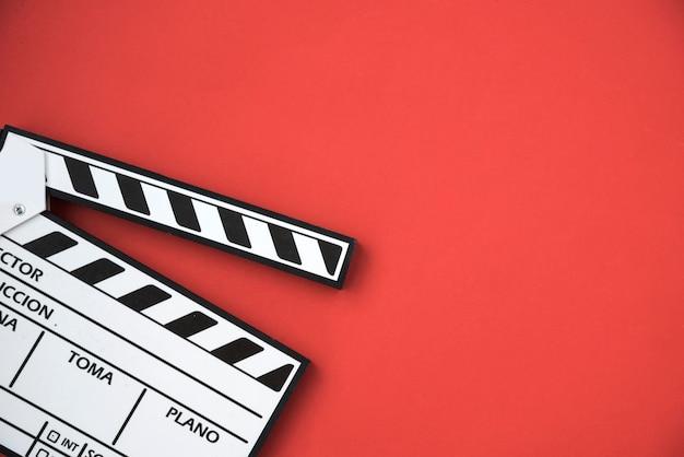 Concetto di cinema con ciak