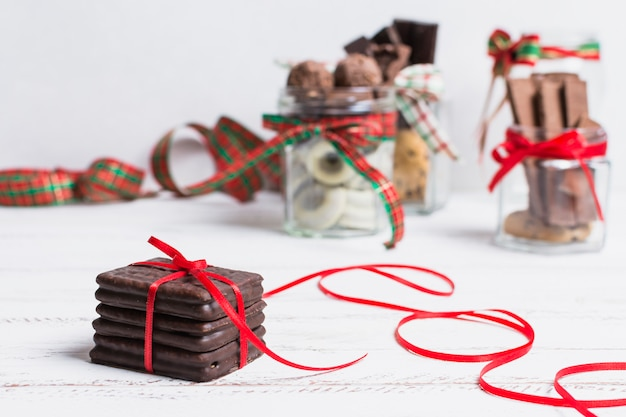 Concetto di cioccolato e natale