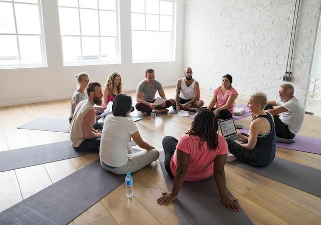 Concetto di classe di yoga