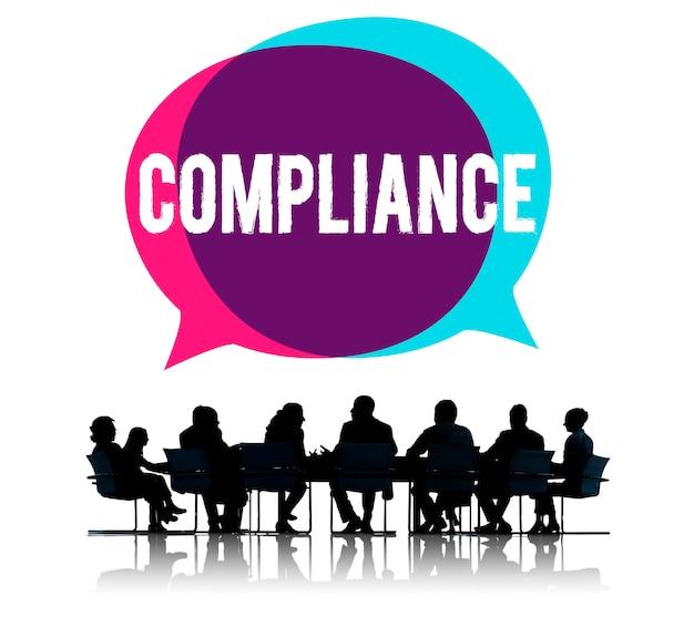 Concetto di codici di politiche di regolamenti di regole di conformità