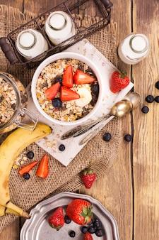 Concetto di colazione sana e deliziosa