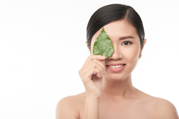Concetto di cosmetici naturali