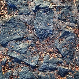 Concetto di costruzione esterna della superficie della roccia