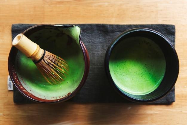 Concetto di cultura trandizionale giapponese matcha