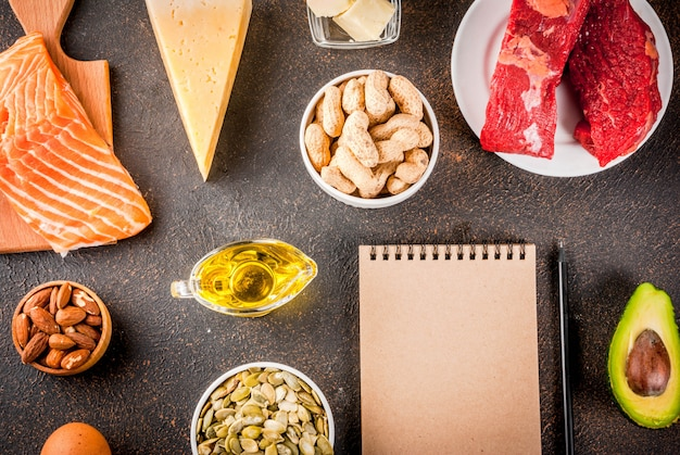 Concetto di dieta chetogenica a basso contenuto di carboidrati