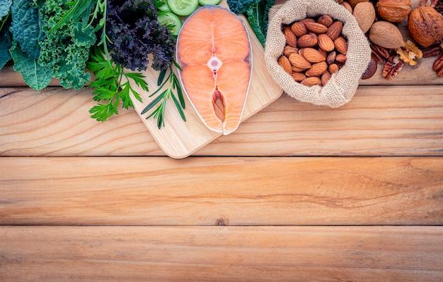 Concetto di dieta chetogenica a basso contenuto di carboidrati.