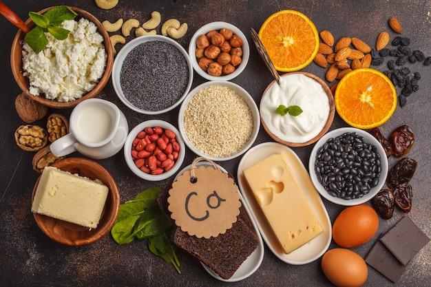 Concetto di dieta di nutrizione di cibo sano.