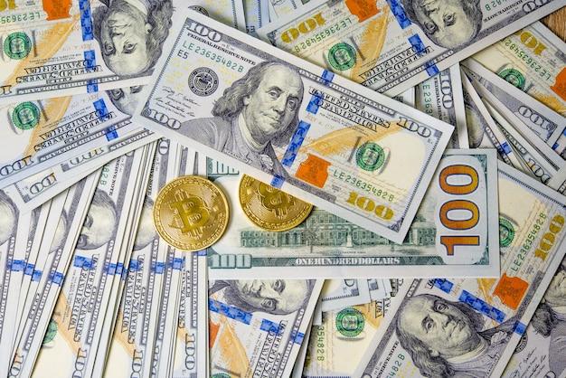Concetto di dollari dollari concetto di primo piano cento dollari in contanti le tasse pagabili sono legali.