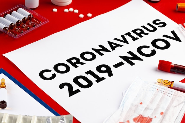 Concetto di epidemia di coronavirus diagnosi di coronavirus, test di laboratorio