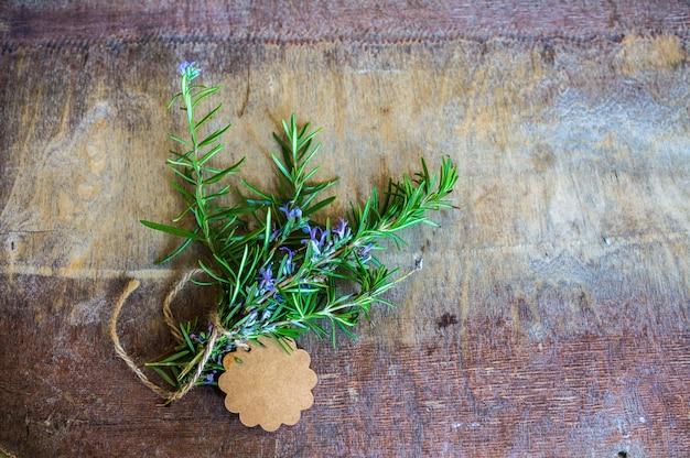 Concetto di erbe di rosmarino