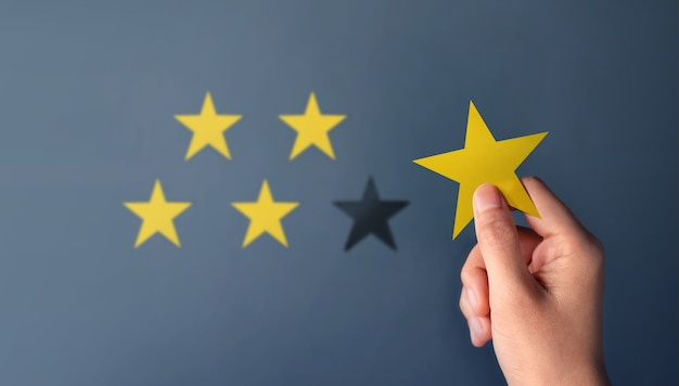 Concetto di esperienza del cliente, i migliori servizi eccellenti per la soddisfazione