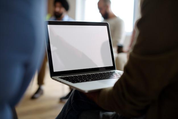 Concetto di evento di seminario della rete del computer portatile